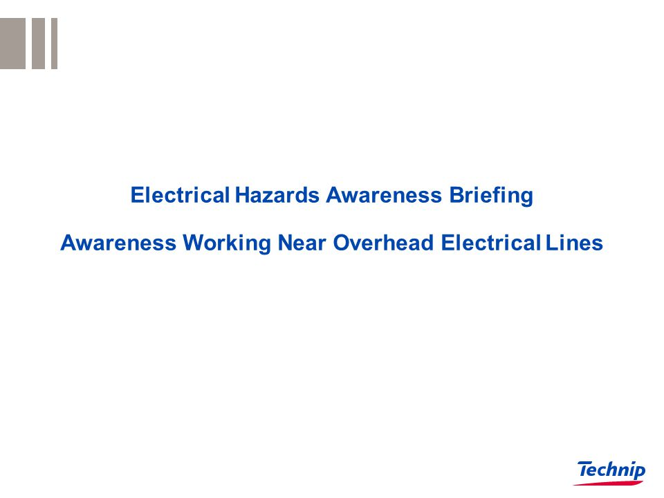 Electrical Hazards Awareness Briefing Awareness Working Near Overhead Electrical Lines
