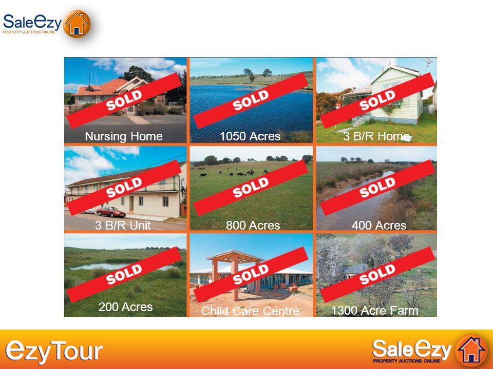 Nursing Home1050 Acres 3 B/R Home 3 B/R Unit 800 Acres 400 Acres 200 Acres Child Care Centre 1300 Acre Farm