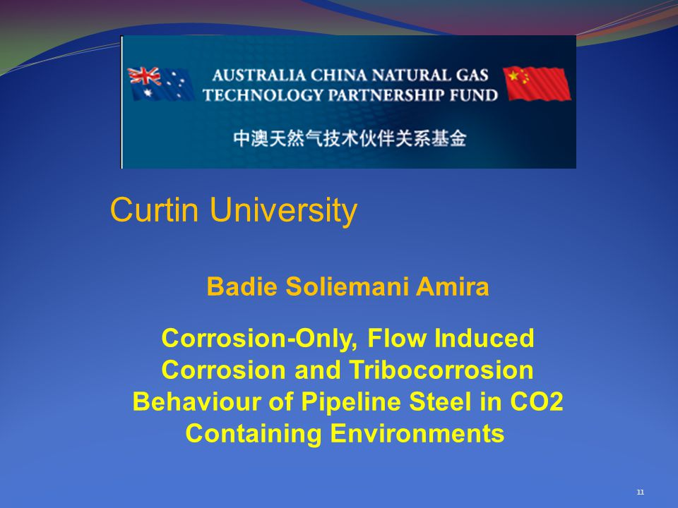 11 Curtin University Badie Soliemani Amira Corrosion-Only, Flow Induced Corrosion and Tribocorrosion Behaviour of Pipeline Steel in CO2 Containing Environments