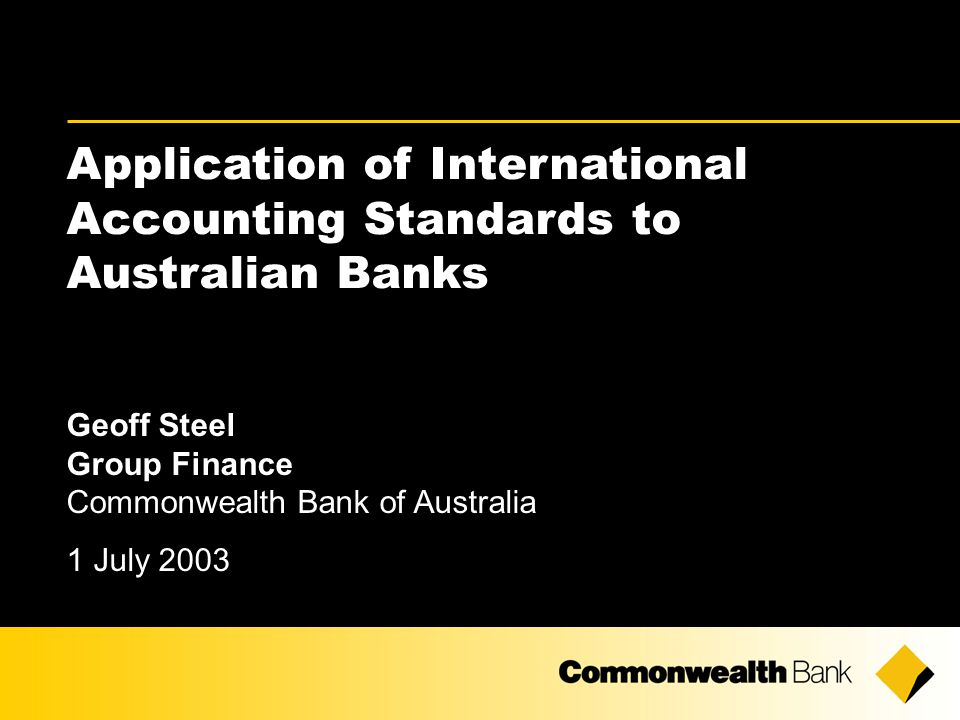 2 The material that follows is a presentation of general background information about Australian banking activities current at the date of the presentation, 1 July 2003.