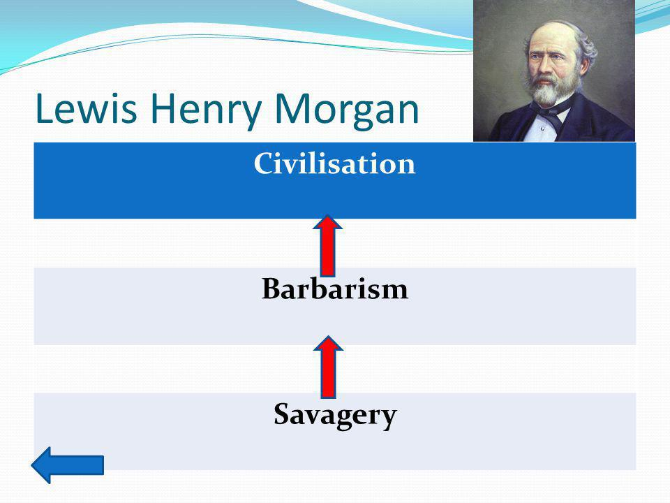 Lewis Henry Morgan Civilisation Barbarism Savagery