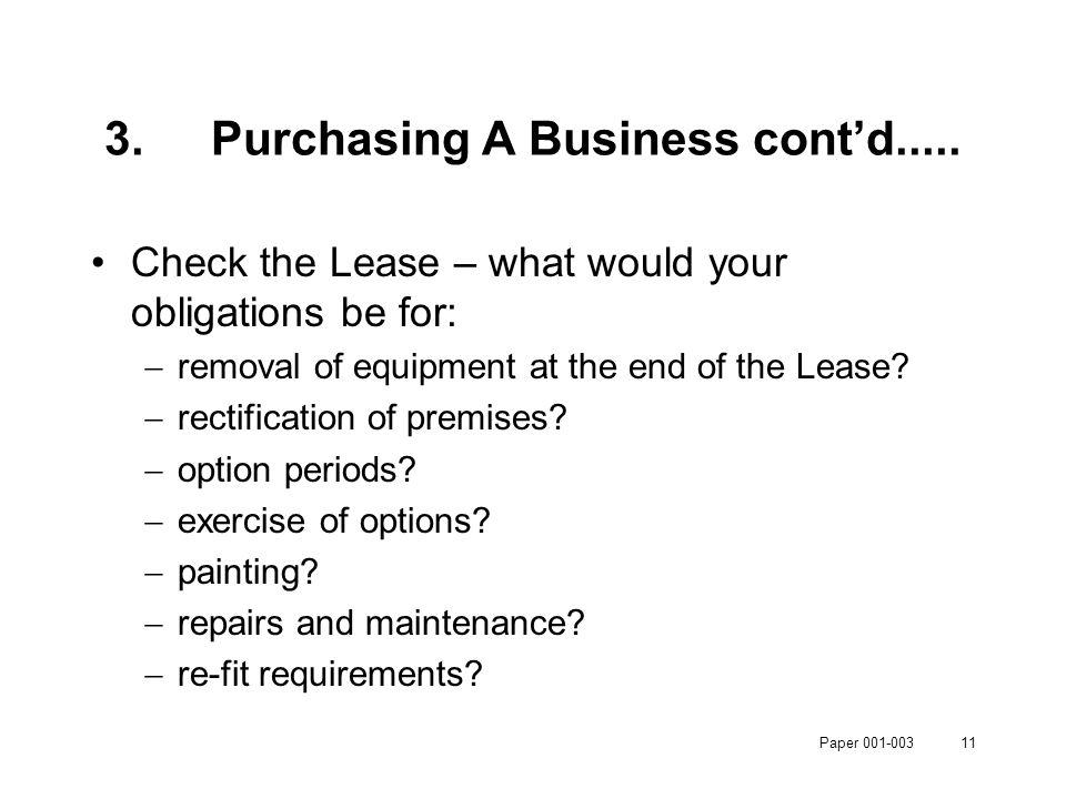 Paper 001-00311 3.Purchasing A Business cont'd.....