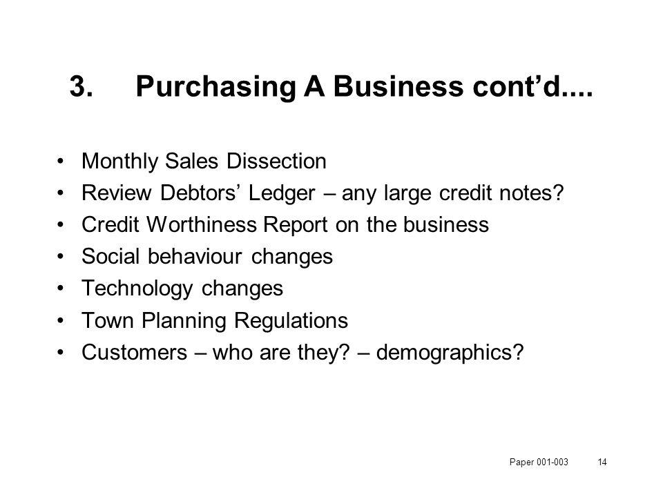Paper 001-00314 3.Purchasing A Business cont'd....