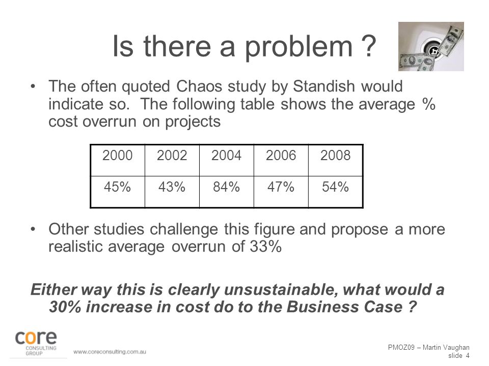 PMOZ09 – Martin Vaughan slide 4 Is there a problem .