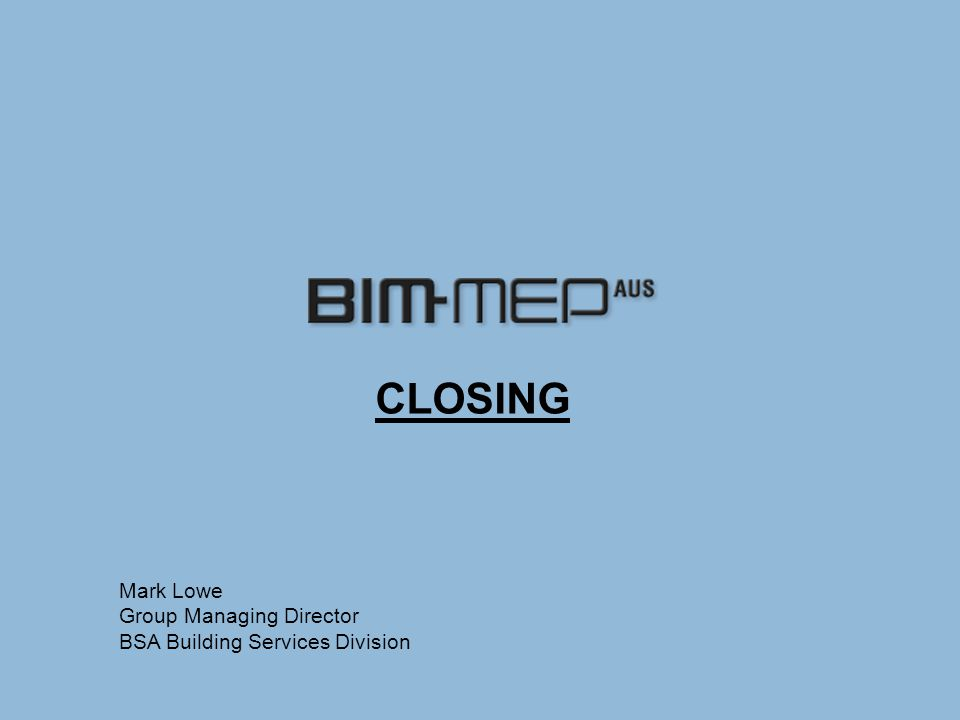 BIM Proprietary Design CAM Fabrication An Industry that is well informed and educated A total solution for the Specialist Building Services sector A business model predicated on the GBCA  Known standards  Accredited organisations  Accredited professionals  CPD  Clarity of rules that also supports and encourages innovation VISION