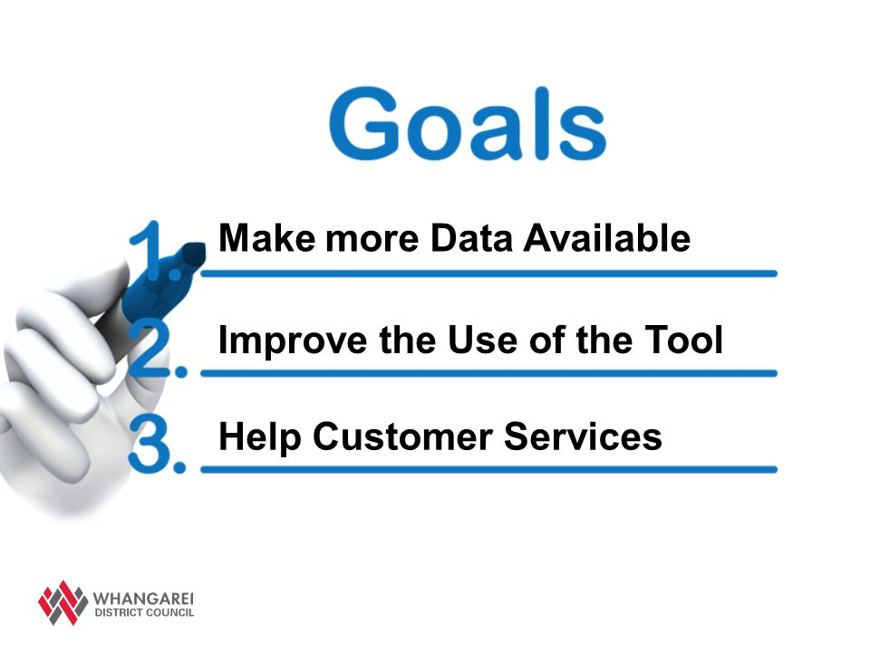 Make more Data Available Improve the Use of the Tool Help Customer Services