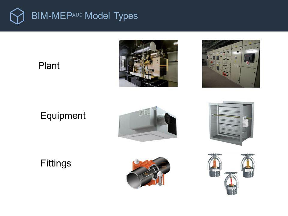 BIM-MEP AUS Model Types Plant Equipment Fittings