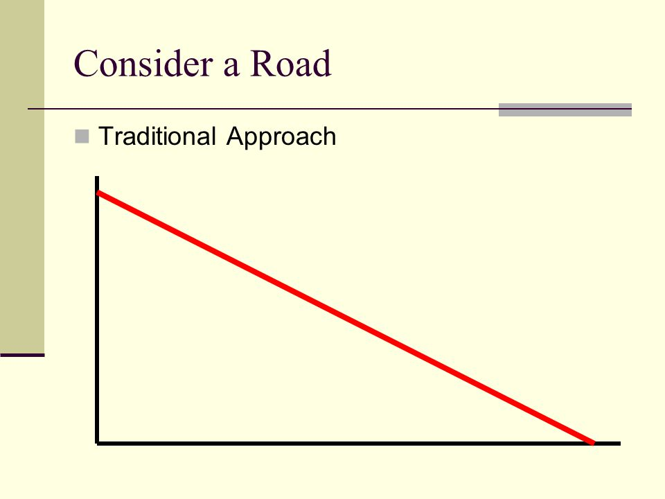 Consider a Road Traditional Approach