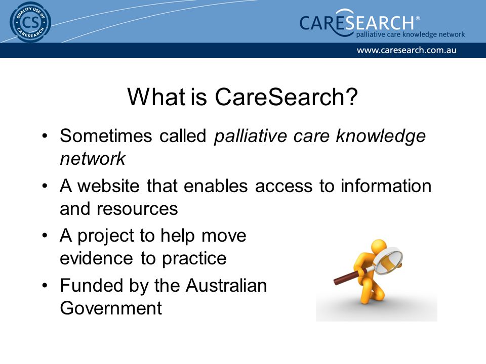 Sometimes called palliative care knowledge network A website that enables access to information and resources A project to help move evidence to pract
