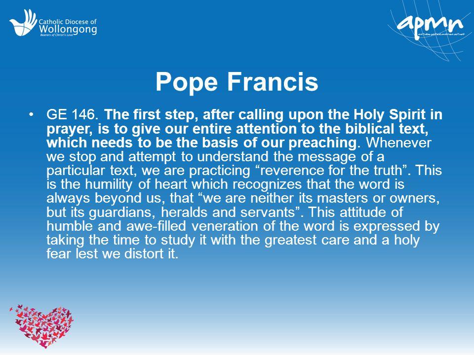 Pope Francis GE 146.
