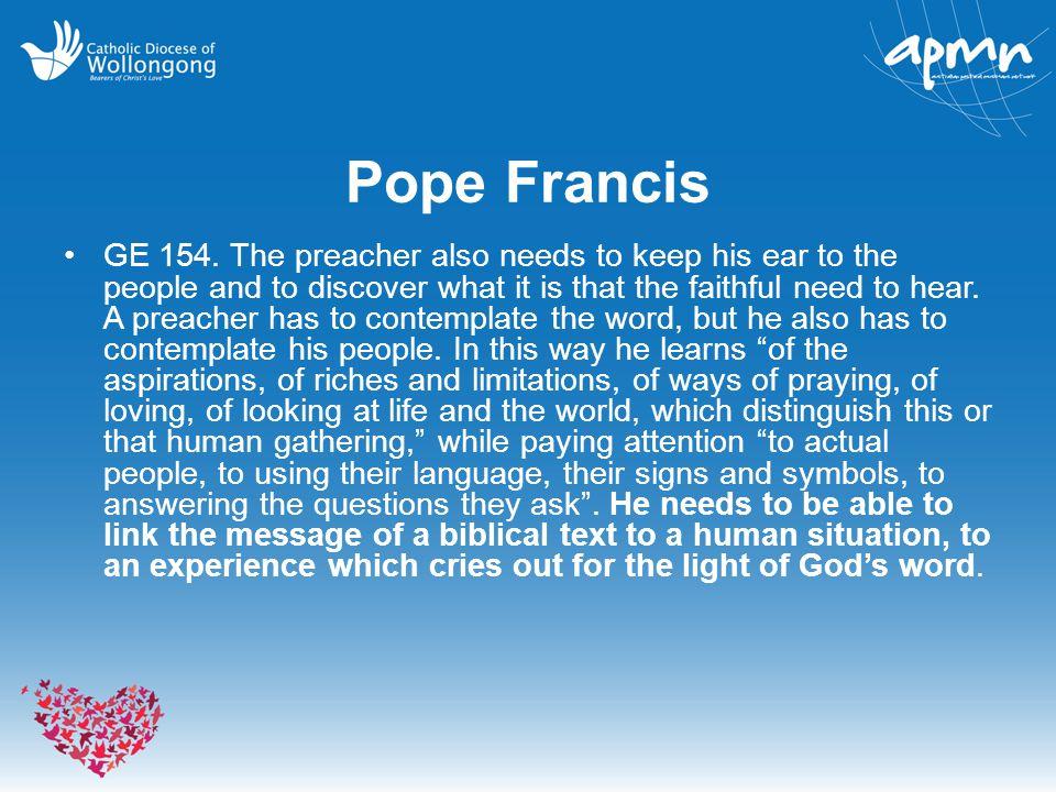 Pope Francis GE 154.