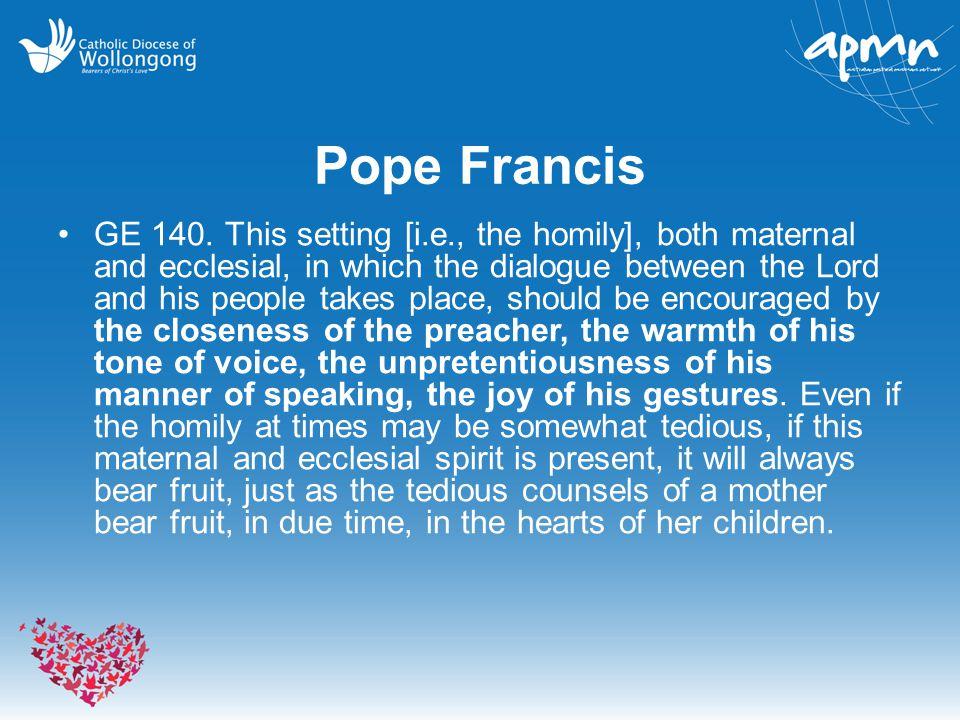Pope Francis GE 140.