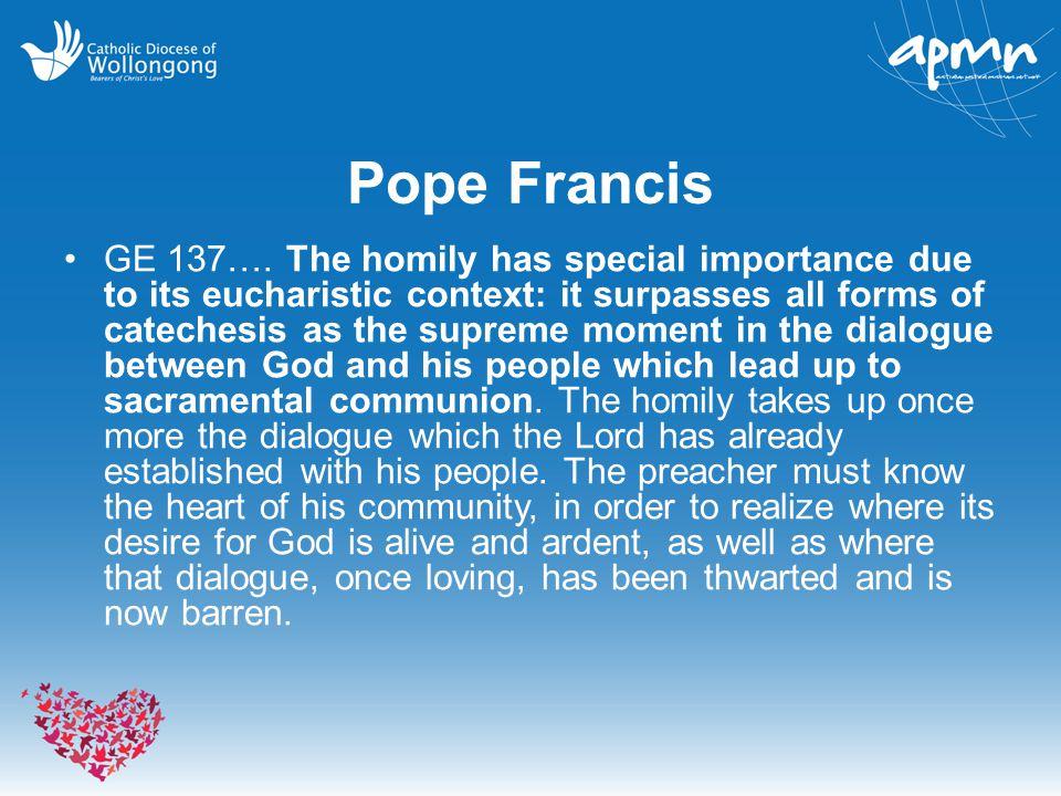 Pope Francis GE 137….