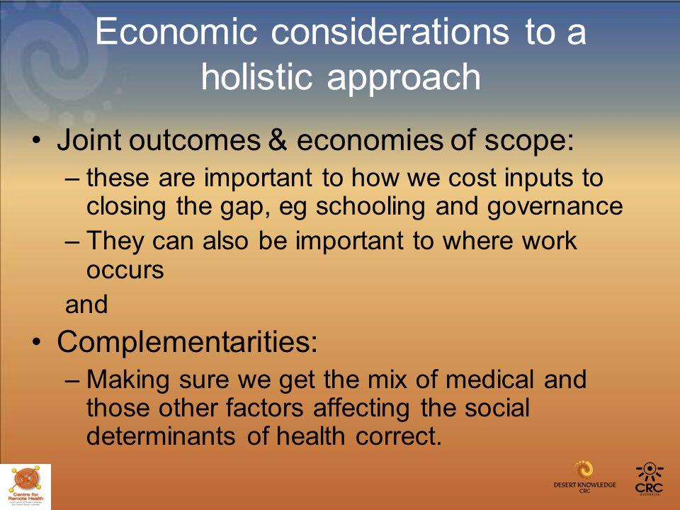 Human capital- enhanced state /public health Aboriginal health Arts and crafts Environment: biodiversity.