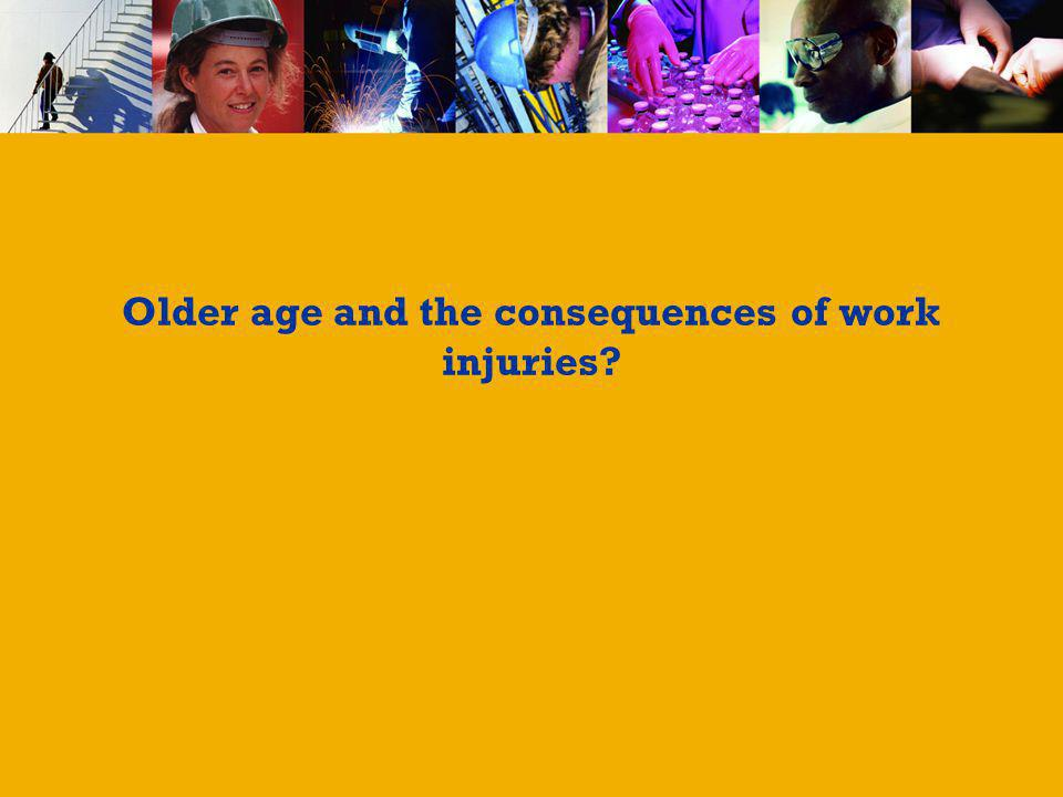 Older age and the consequences of work injuries