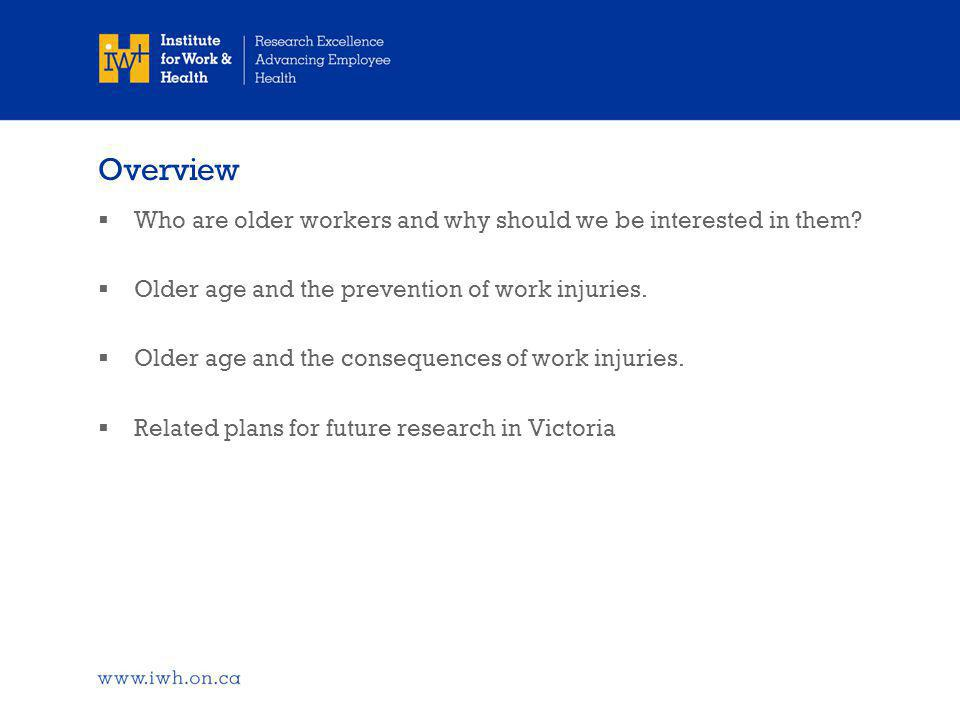 Who are older workers and why should we be interested in them?