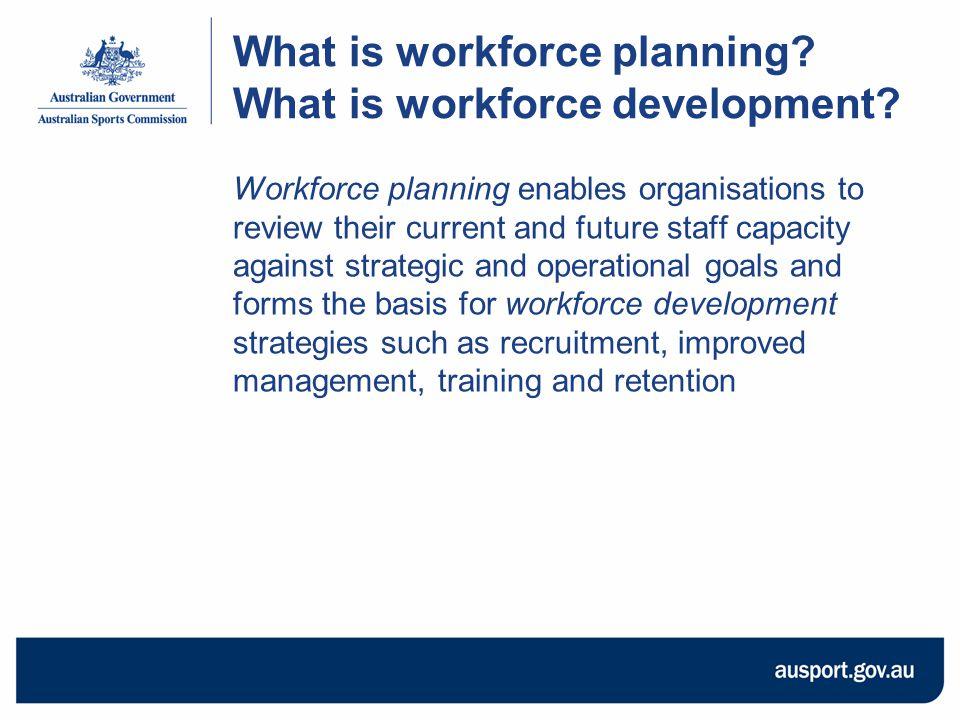 What is workforce planning. What is workforce development.
