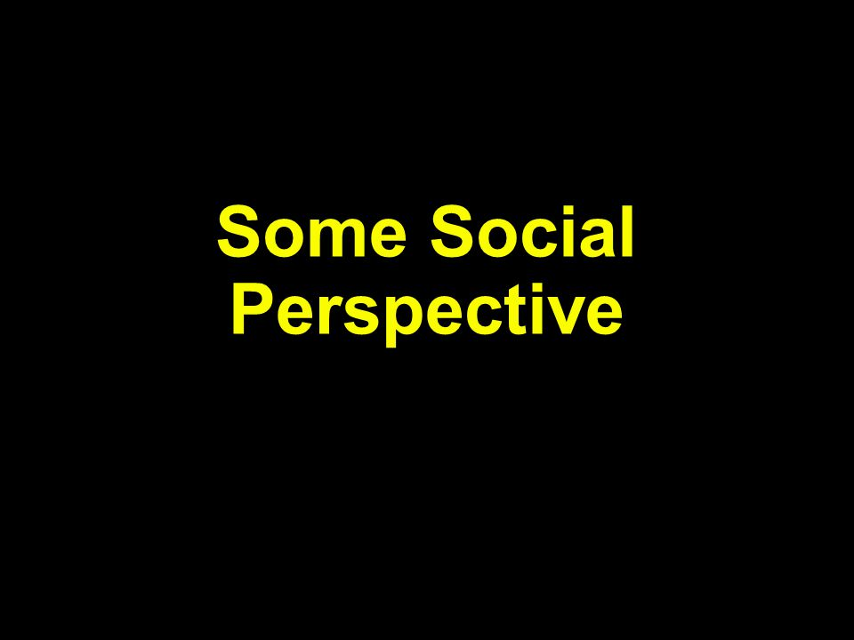 Some Social Perspective