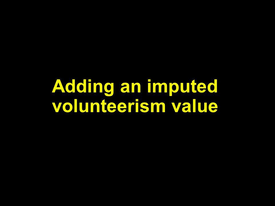 Adding an imputed volunteerism value