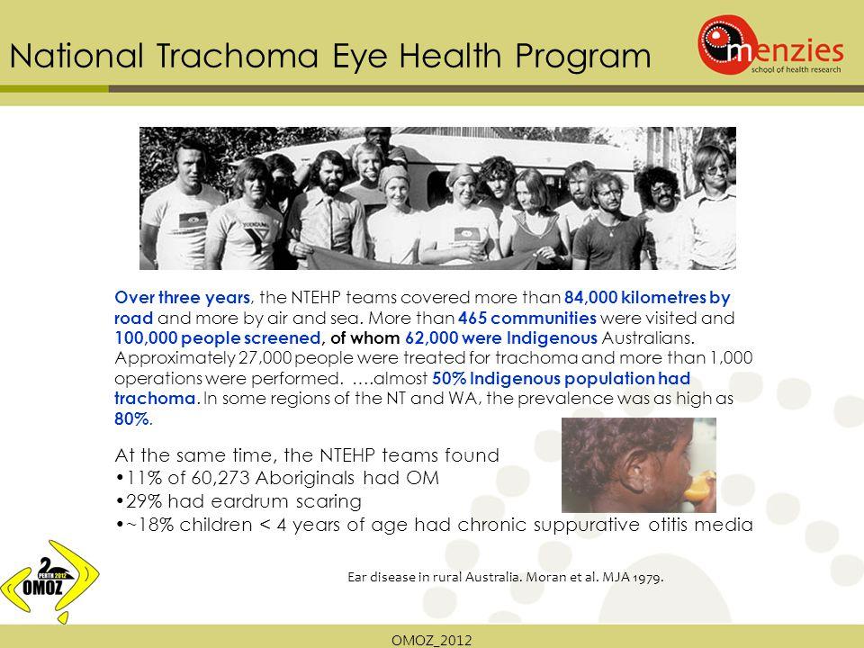 OMOZ_2012 National Trachoma Eye Health Program Ear disease in rural Australia.