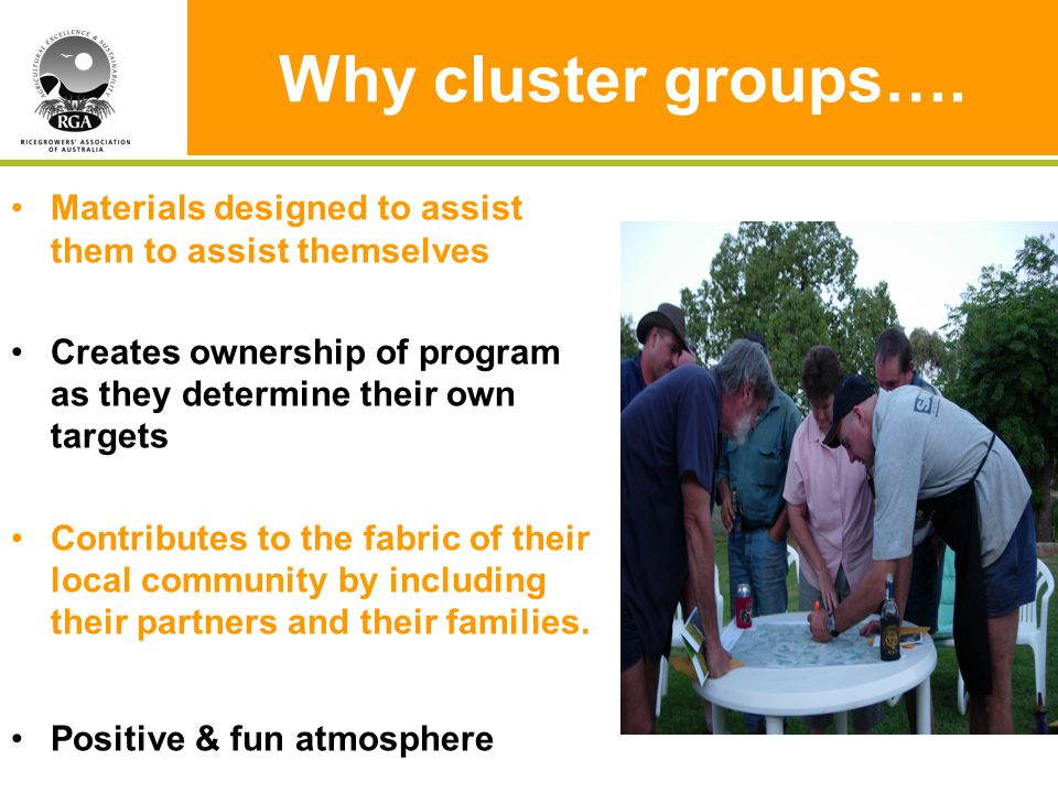 Why cluster groups….