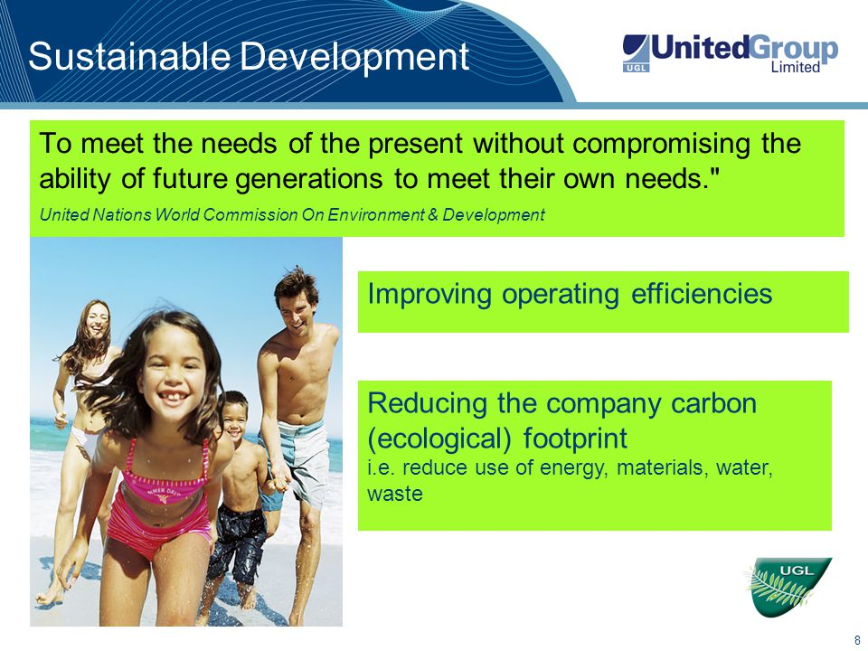 9 Business imperative Why integrate sustainability into the business.