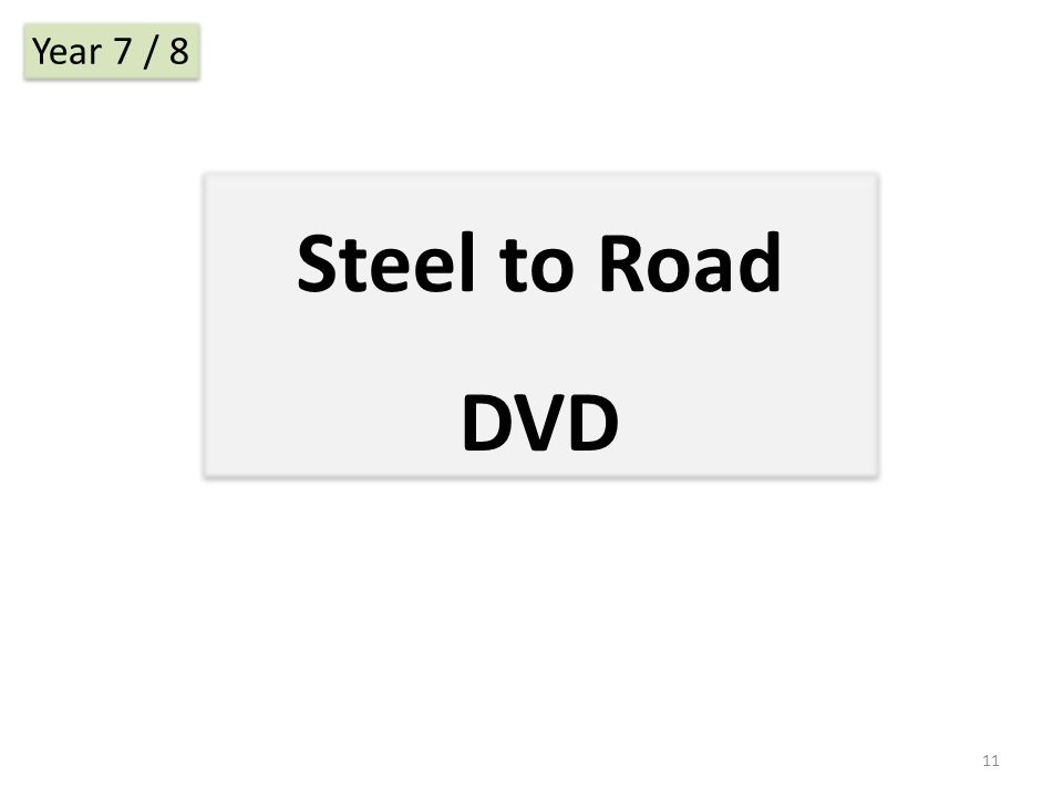 Steel to Road DVD Year 7 / 8 11