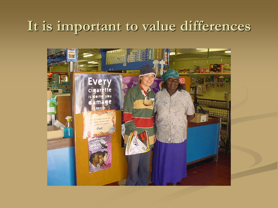 It is important to value differences