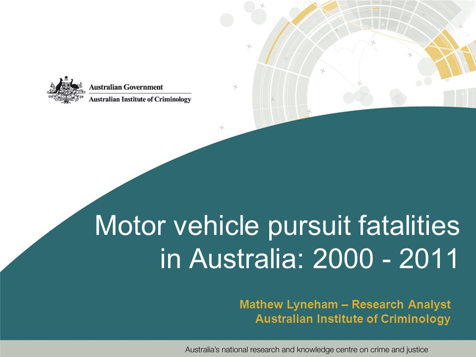 Describe the key preliminary national findings from a recent collaborative study with police services around fatal motor vehicle pursuits across Australia since 2000; Touch on areas in need of further research.