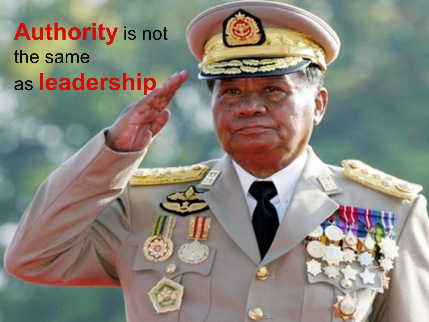 Authority is not the same as leadership