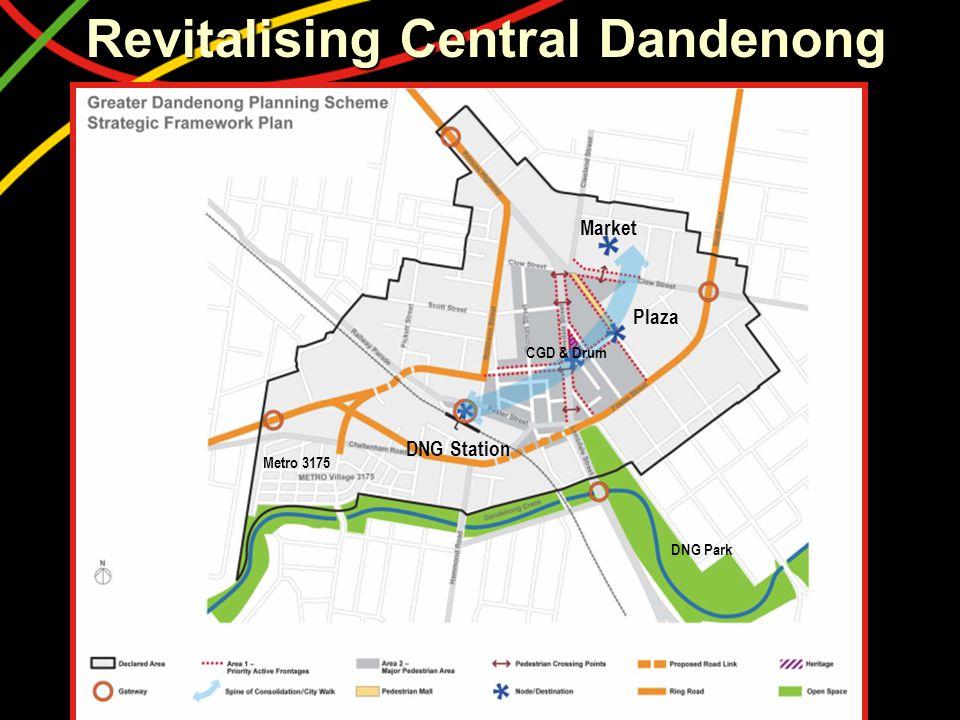 Revitalising Central Dandenong DNG Station Metro 3175 DNG Park Plaza Market CGD & Drum