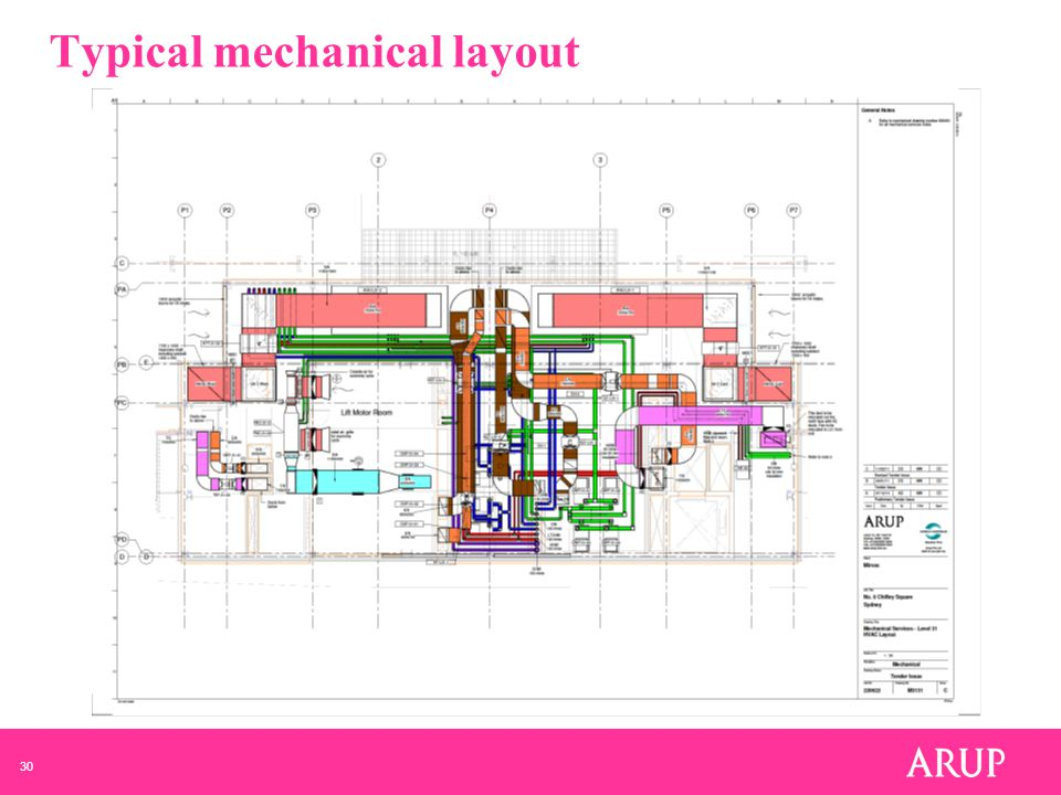 30 Typical mechanical layout