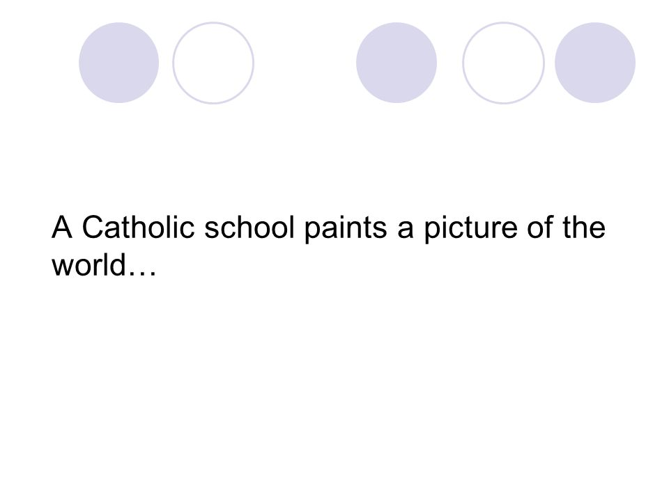 A Catholic school paints a picture of the world…