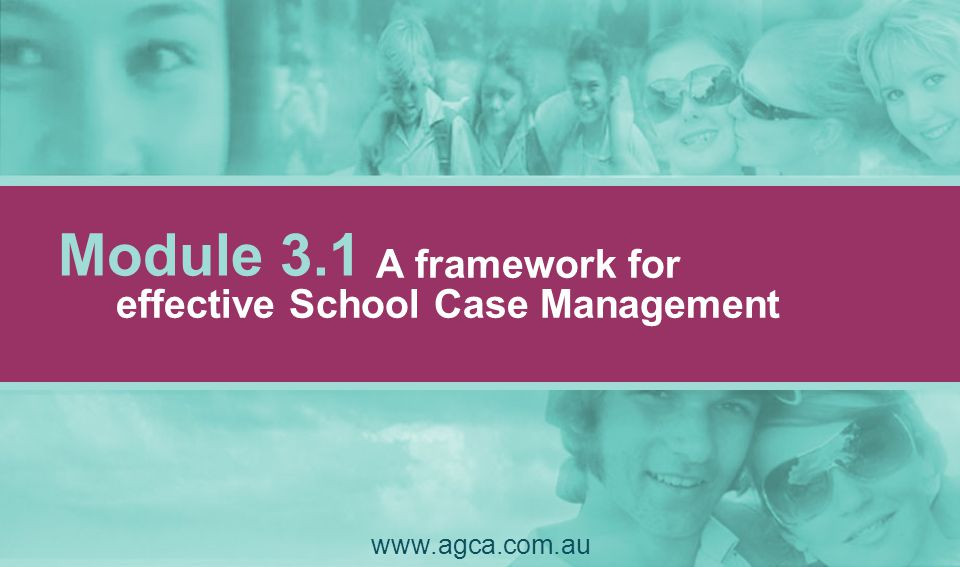 Aims 1.To enable students to function to the best of their ability & circumstances within & beyond the school system 2.To contribute to engaging students in meaningful learning 3.To develop, monitor, disseminate, & evaluate a plan of action 4.To achieve a seamless service delivery through the coordination of & collaboration between service providers Seven core aims: www.agca.com.au 3.1.11