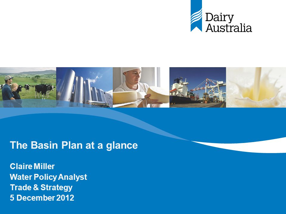 Basin Plan 2012 - 2024 –The Murray Darling Basin Plan was signed into law on Thursday, 22 November.