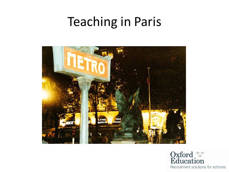 Teaching in Paris