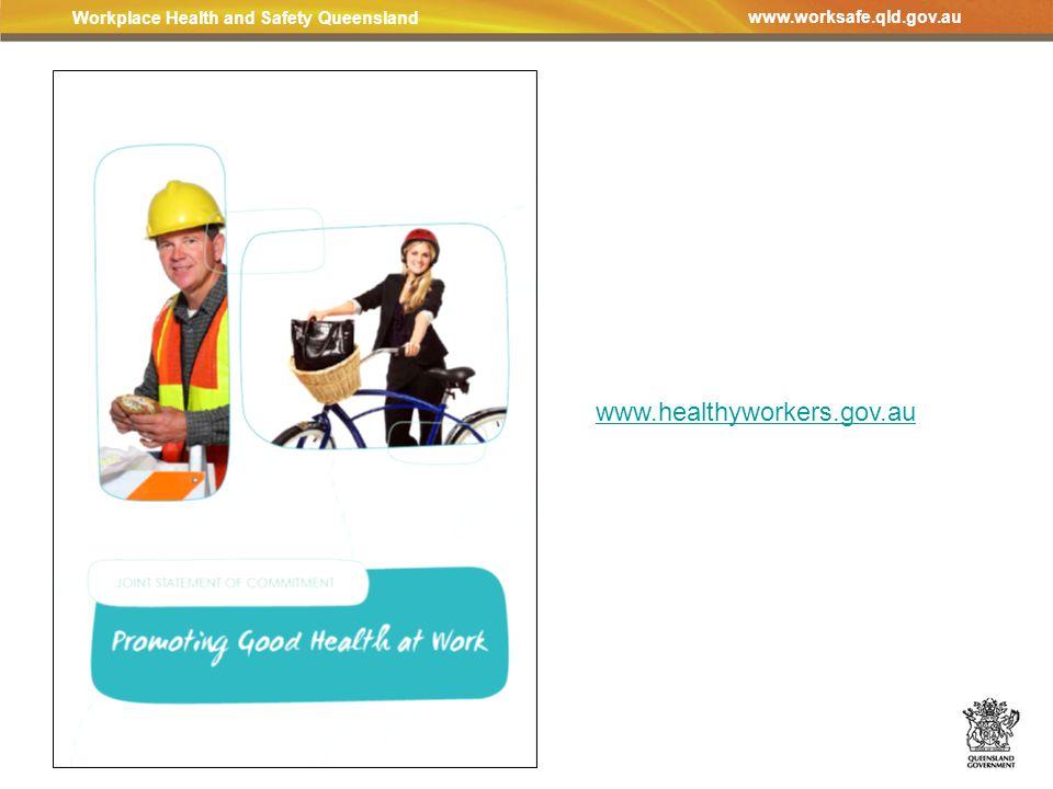Workplace Health and Safety Queensland www.worksafe.qld.gov.au www.healthyworkers.gov.au