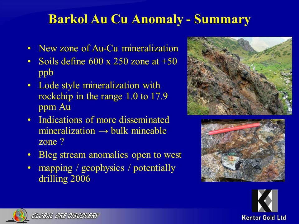 Karabalta CT0074 - Summary Stats 49 Rockchips Av.Au = 1.65 g/t (peak 42 g/t) Av.