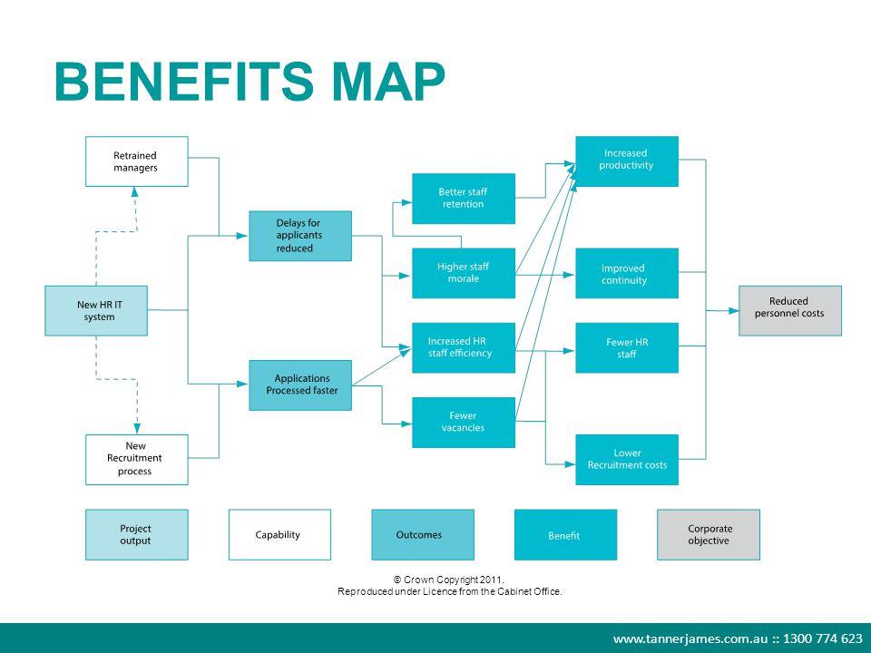 www.tannerjames.com.au :: 1300 774 623 BENEFITS MAP © Crown Copyright 2011.