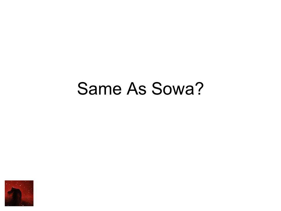Same As Sowa?