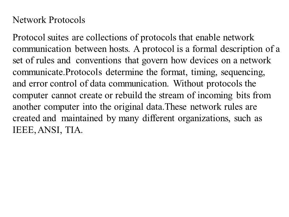 Networking Standards IOS International Organization for Standards.