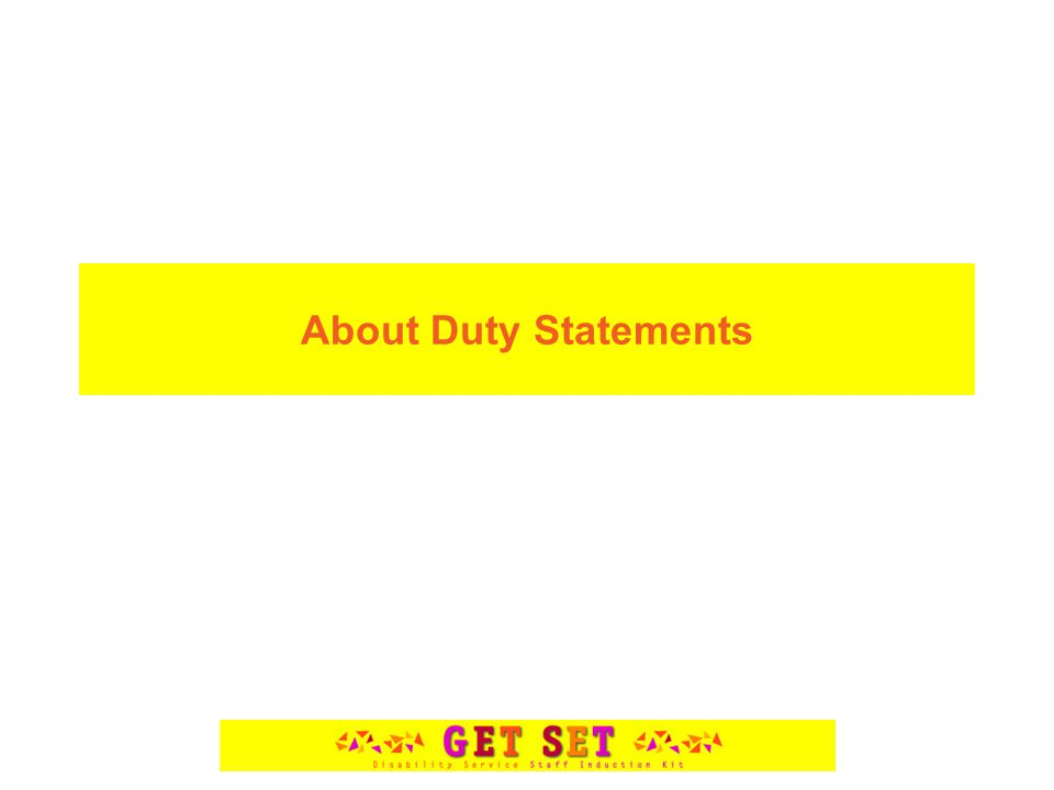 About Duty Statements