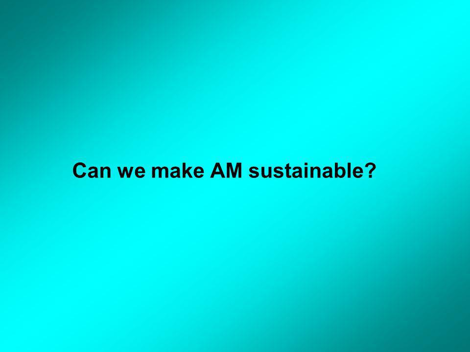 Can we make AM sustainable