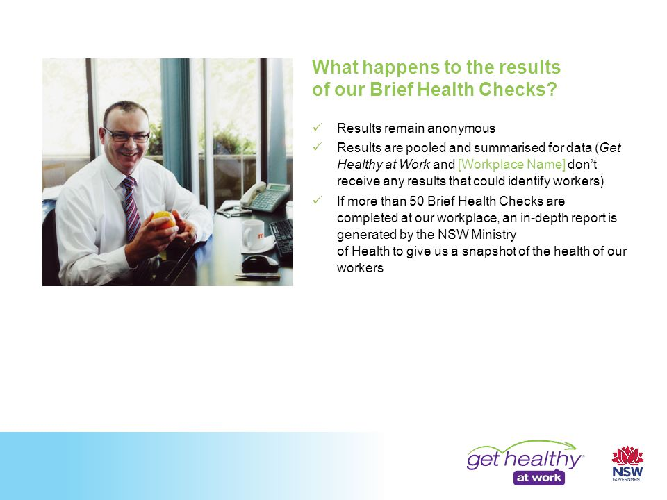 What happens to the results of our Brief Health Checks.