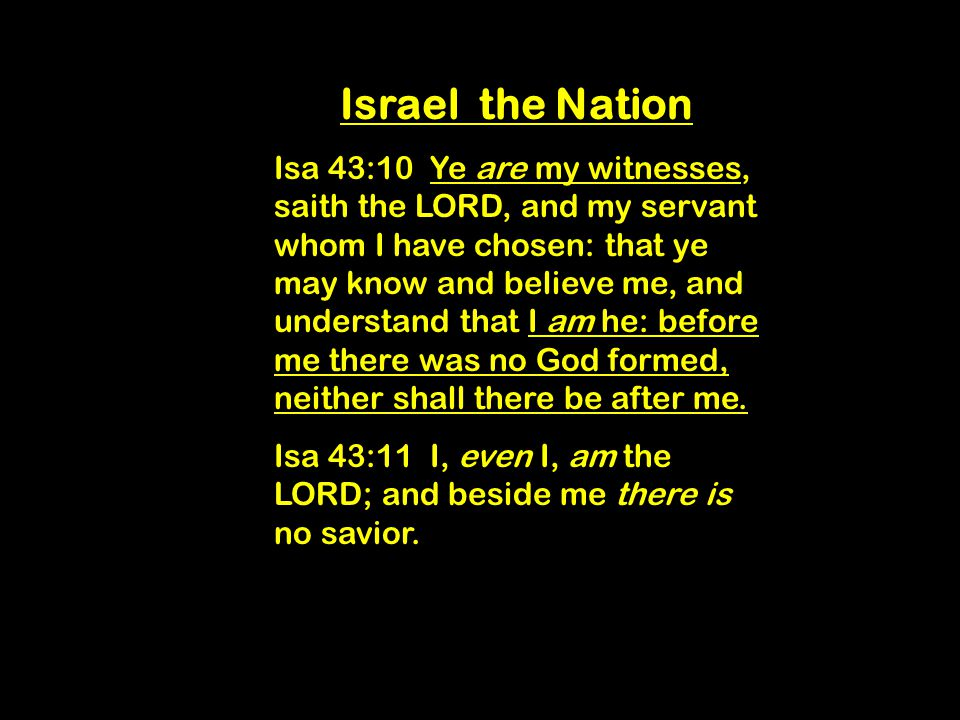 Israel God's Witnesses