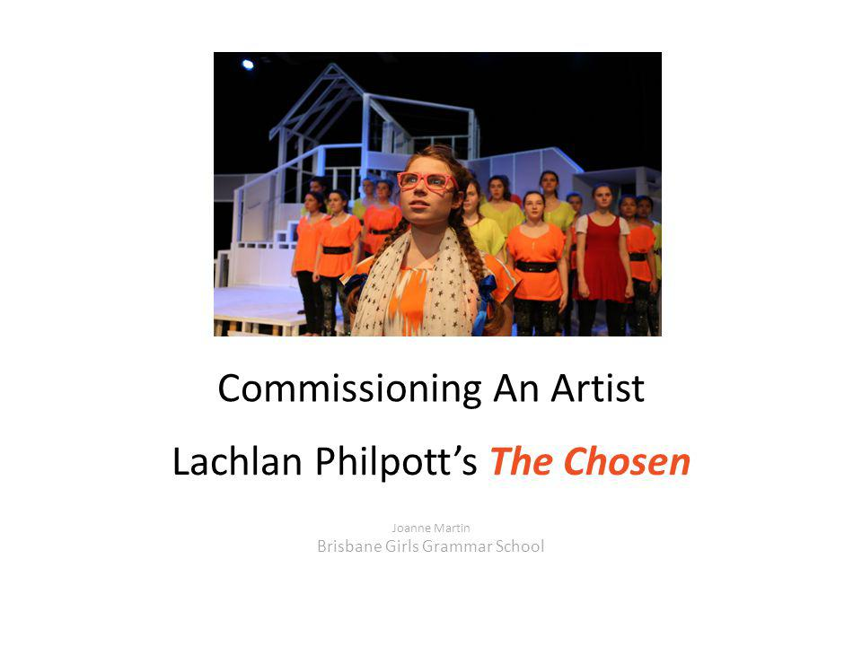 Commissioning An Artist Lachlan Philpott's The Chosen Joanne Martin Brisbane Girls Grammar School