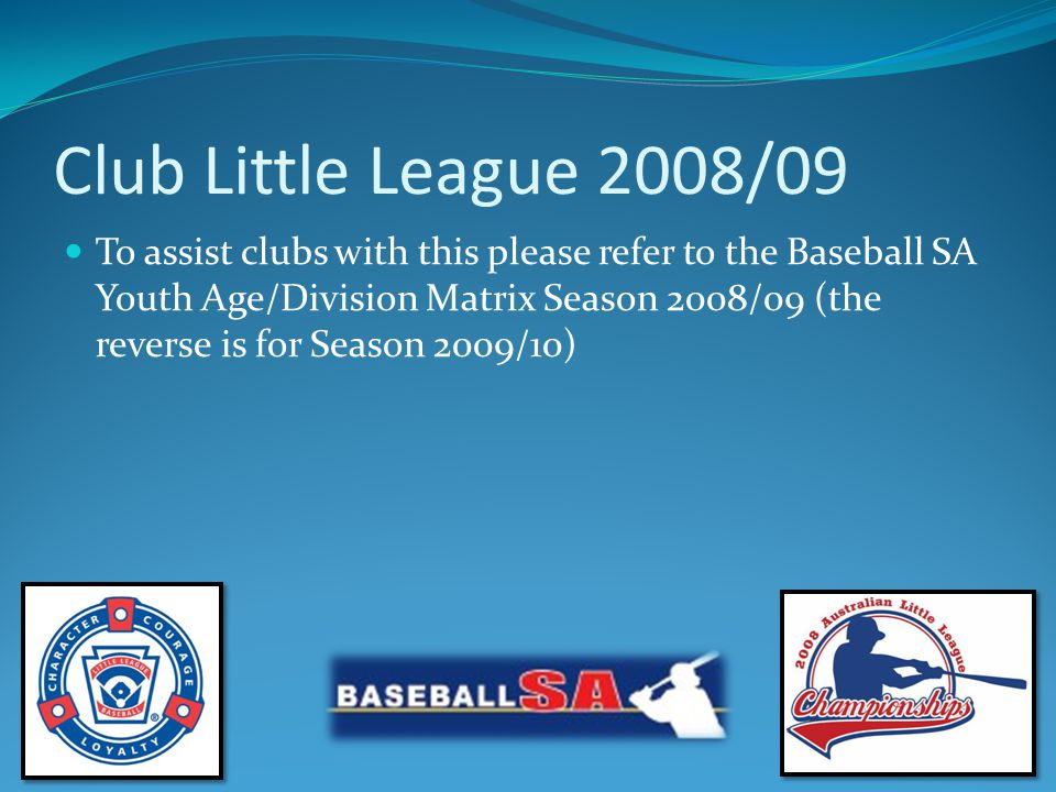 Australian Little League Parent/Volunteer Pledge I WILL TEACH ALL CHILDREN TO PLAY FAIR AND DO THEIR BEST I WILL POSITIVELY SUPPORT ALL MANAGERS, COACHES AND PLAYERS I WILL RESPECT THE DECISIONS OF THE UMPIRES I WILL PRAISE A GOOD EFFORT DESPITE THE OUTCOME OF THE GAME