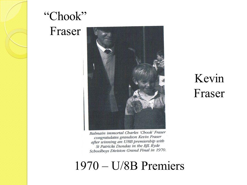 1970 – U/8B Premiers Kevin Fraser Chook Fraser