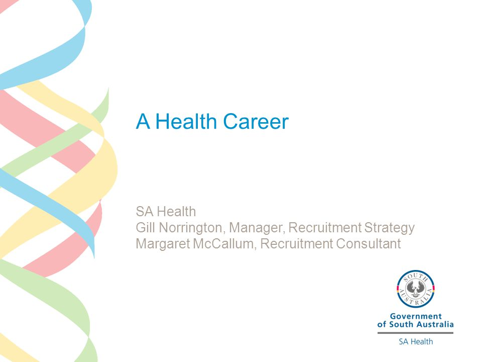 Careers in Health >Medical GPs Specialists, Hospital Medical Officers >Nursing Enrolled Registered Specialist >Allied Health Professionals