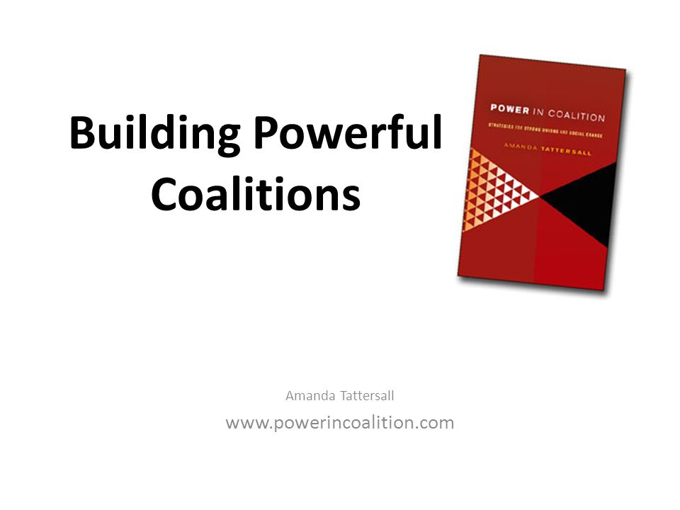 Building Powerful Coalitions Amanda Tattersall www.powerincoalition.com